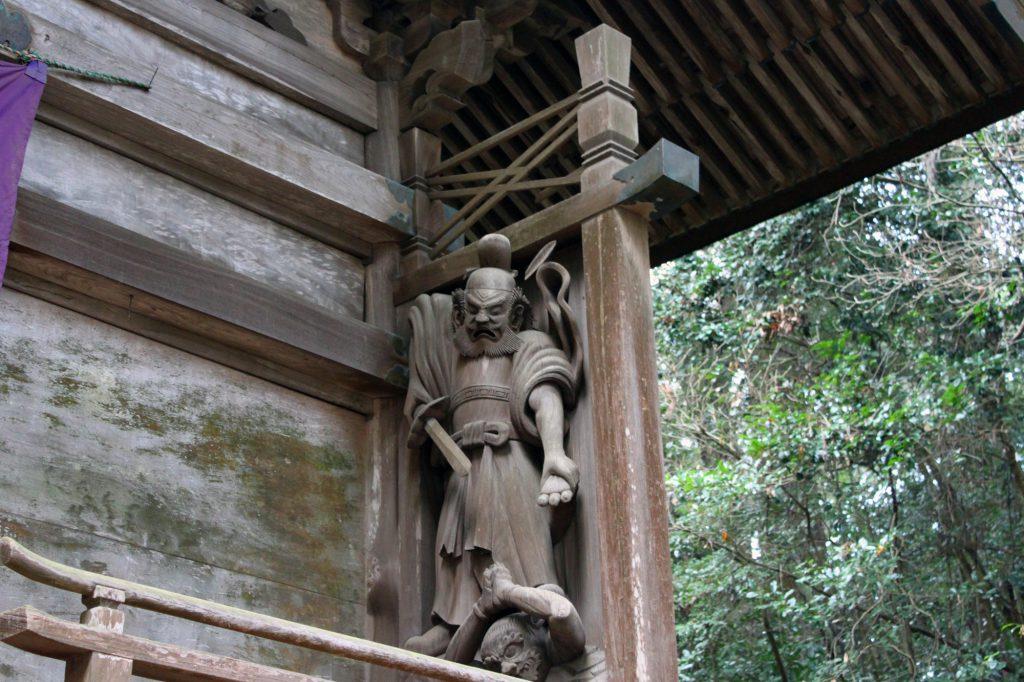 高千穂神社 拝殿 木像