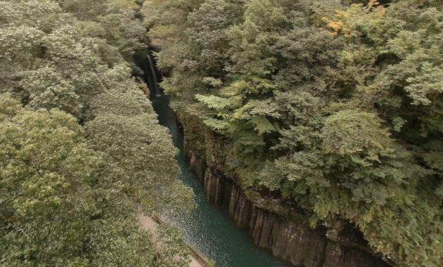 高千穂峡 真名井の滝 ドローン空撮 20161007の動画を公開 Aerial in drone the Takachiho gorge, Manai Waterfall