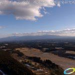 絶景 冬の久住高原から望む 祖母傾国定公園  ドローン空撮4K写真 20170124