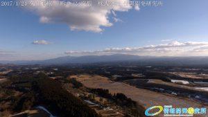 絶景 冬の久住高原から臨む 祖母山  ドローン空撮4K写真 20170124