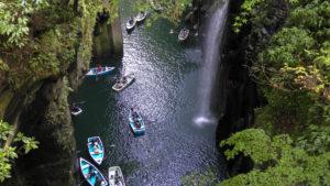 しボート 真名井の滝 写真(4K)